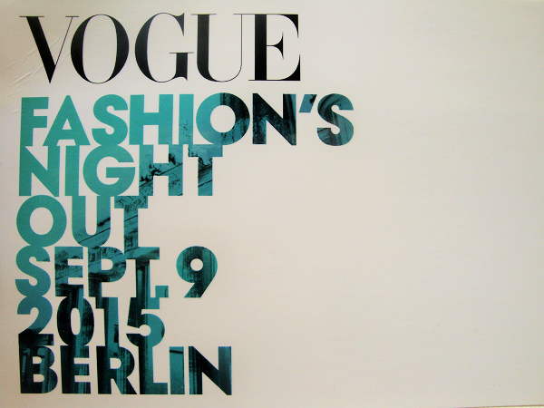 VOGUE Fashion Night Out Berlin 2015