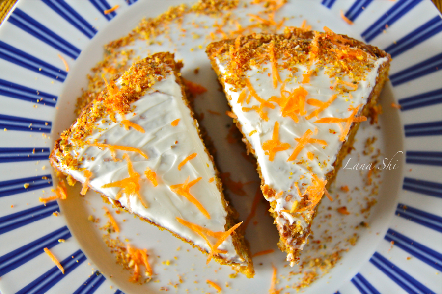 Морковный пирог 270 ккал в одной порции