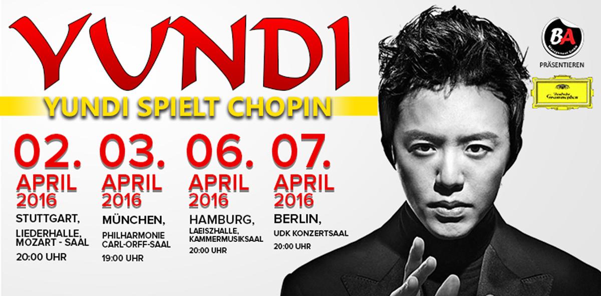 Юнди Ли Виртуозный китайский пианист с концертами в Германии