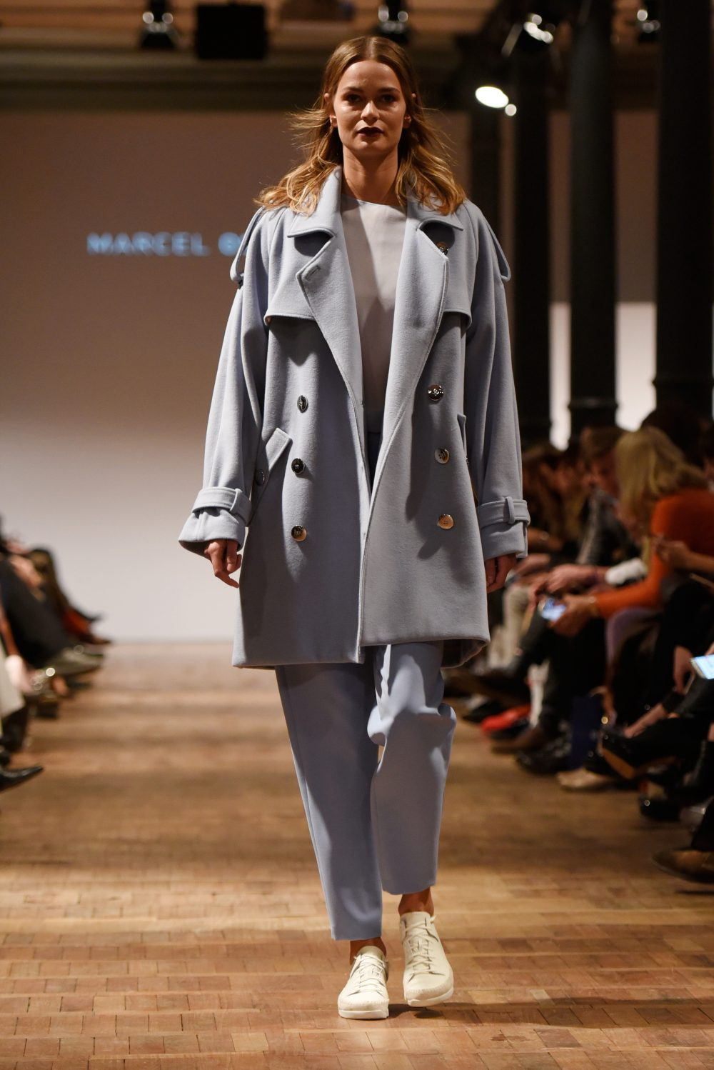 BERLIN, GERMANY - JANUARY  Marcel Ostertag show during the Mercedes-Benz Fashion Week Berlin Autumn/Winter 2016 (Photo by Clemens Bilan/Getty Images for Marcel Ostertag)