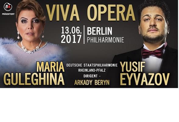 Юсиф Эйвазов и Мария Гулегина концерт в Берлине